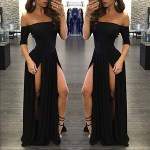 Dresses & Skirts - Black king dress with slits